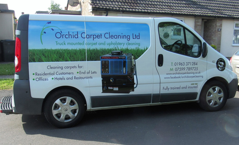 Orchid Carpet Cleaning Van